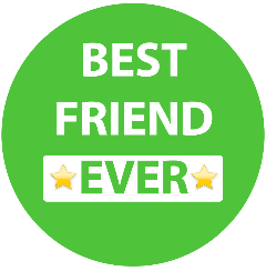 Best friend ever in a green circle