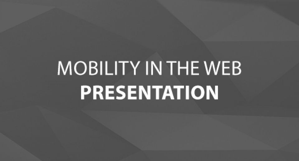 Follow Up from The Mobility in the Web Presentation