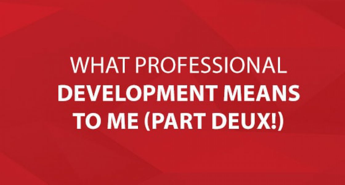What Professional Development Means To Me (Part Deux!)