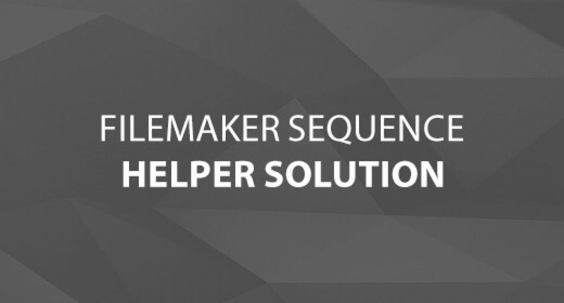 FileMaker Sequence Helper Solution