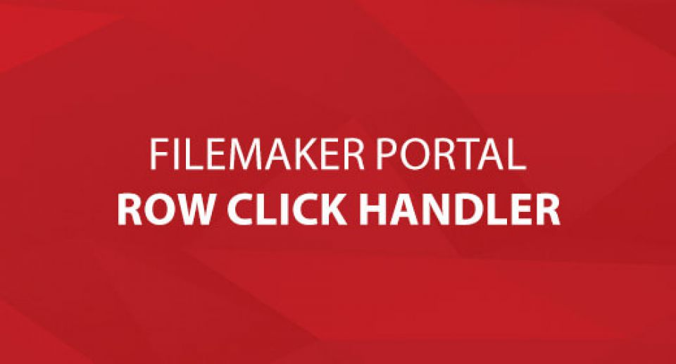 FileMaker Portal Row Click Handler
