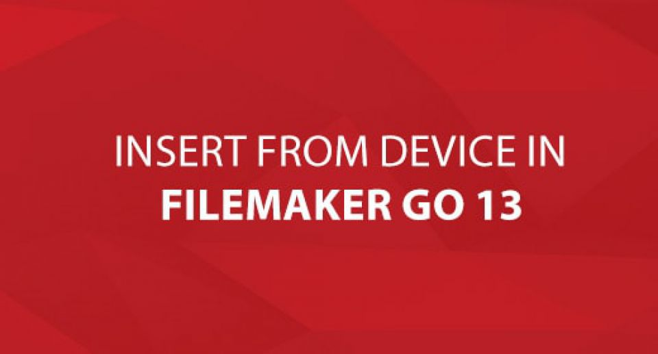 Insert From Device in FileMaker Go 13