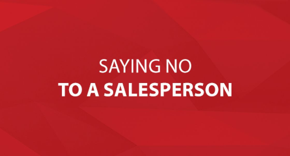 Saying No to a Salesperson