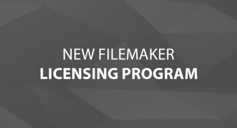 New FileMaker Licensing Program