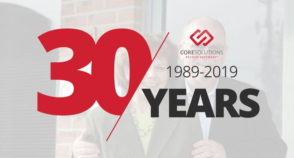 CoreSolutions Software Celebrates 30th Anniversary