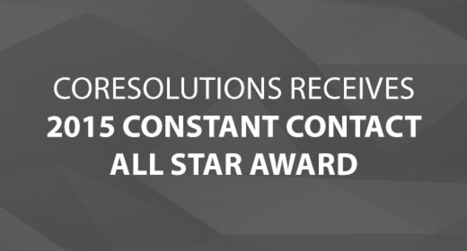 CoreSolutions Receives 2015 Constant Contact All Star Award