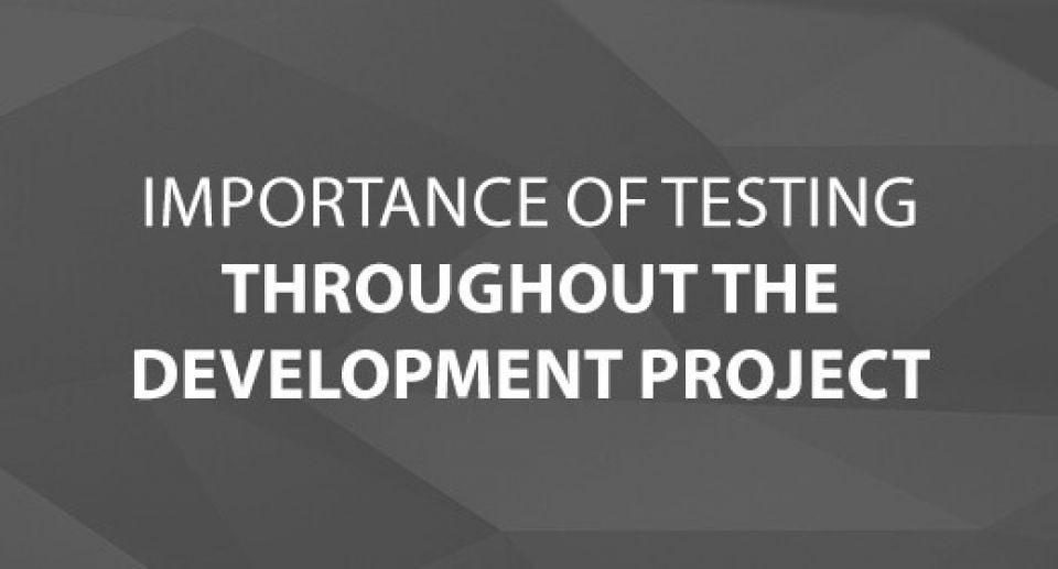 Importance of Testing Throughout the Development Project