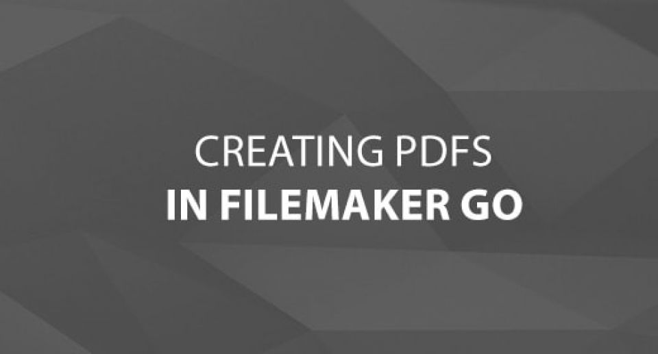 Creating PDFs in FileMaker Go