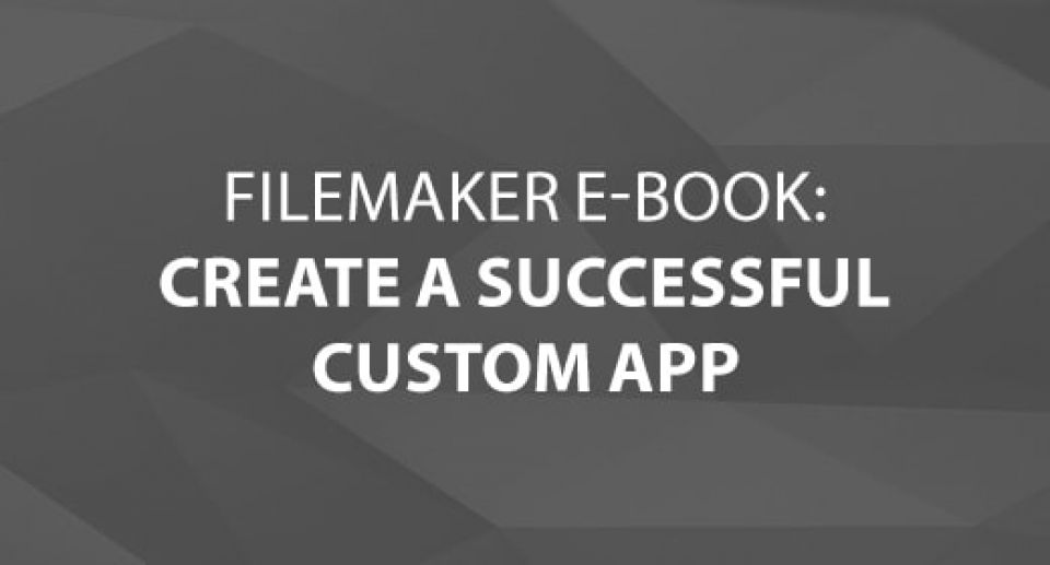 FileMaker E-Book – Creating a Custom App