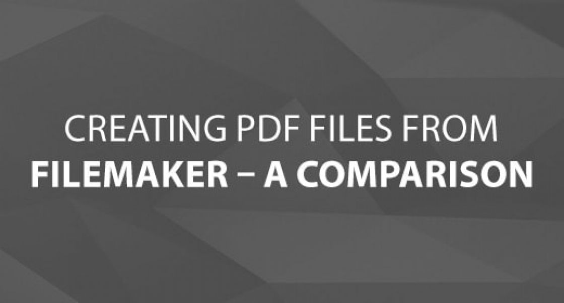 Creating PDF files from FileMaker – A Comparison