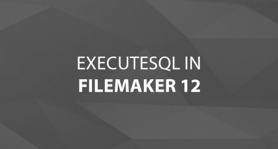 ExecuteSQL in Filemaker 12
