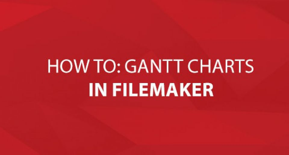 How to: Gantt Charts in FileMaker