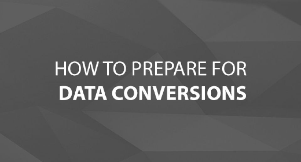 how to prepare for data conversions