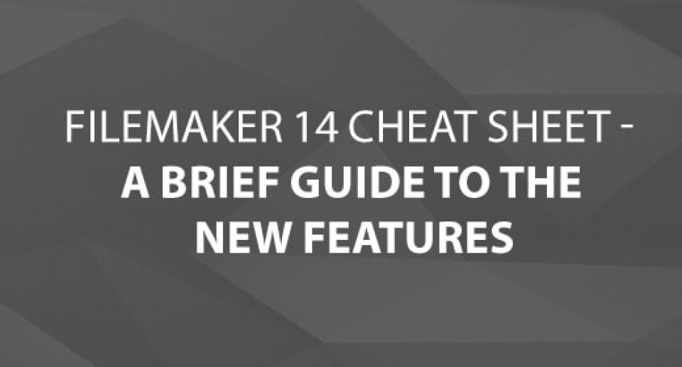 FileMaker 14 Cheat Sheet - Brief Guide to New Features