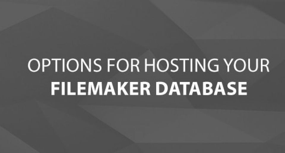 Options for Hosting your FileMaker Database