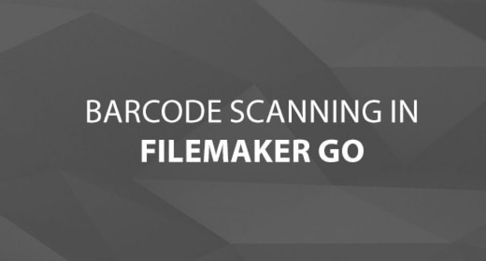 Barcode Scanning in FileMaker Go