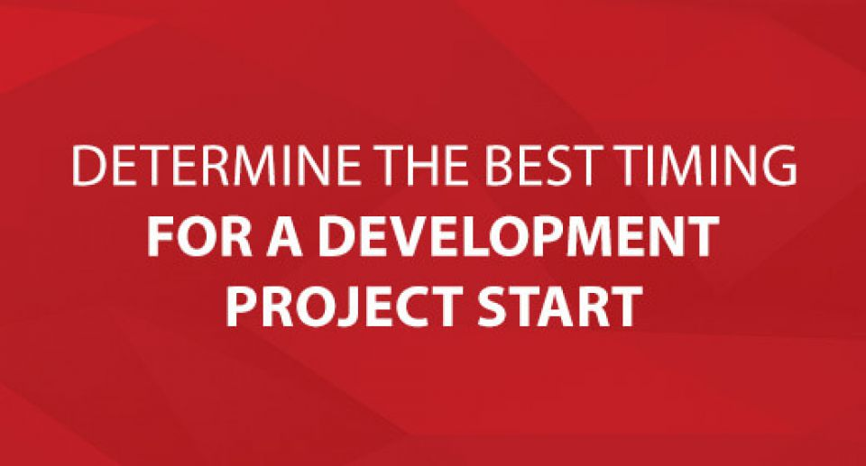 Determine the Best Timing for a Development Project Start