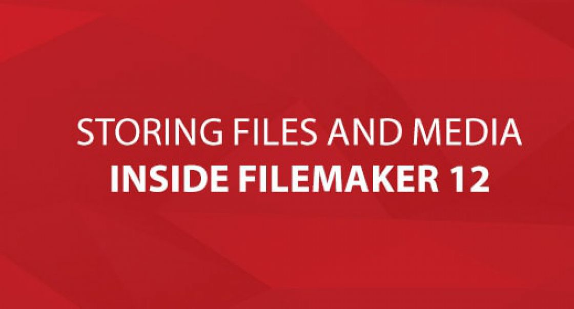 Storing Files and Media Inside FileMaker 12