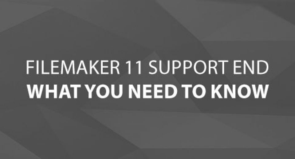 The End of FileMaker 11 Support