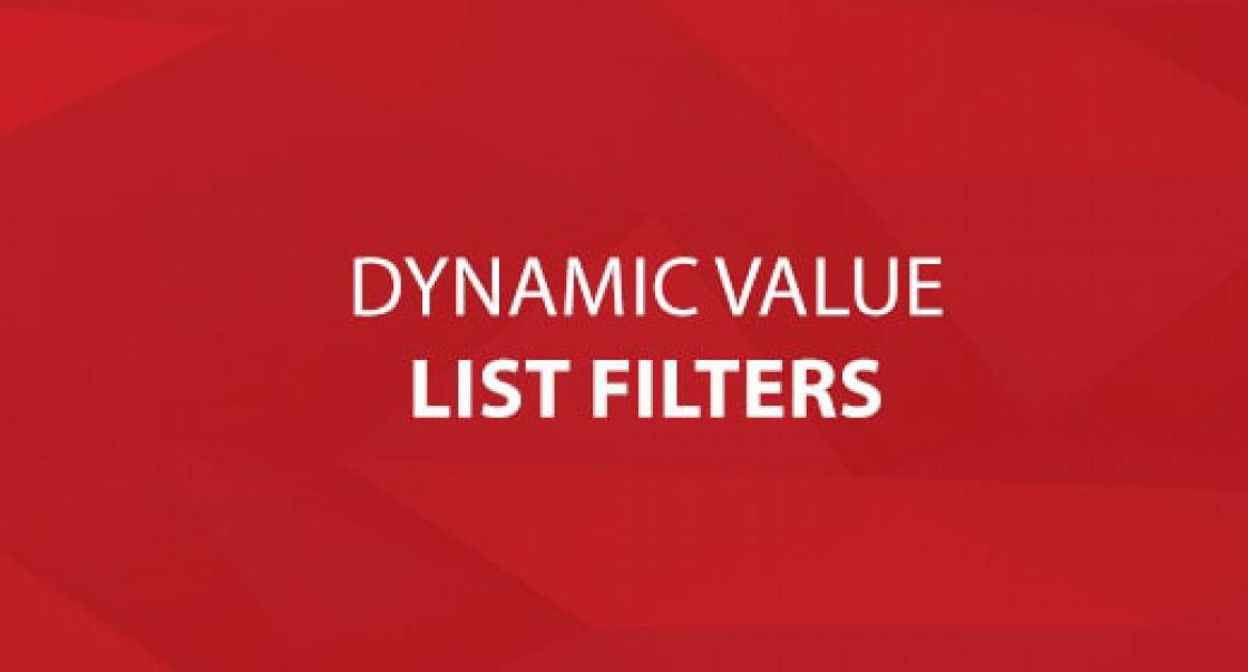 Dynamic Value List Filters