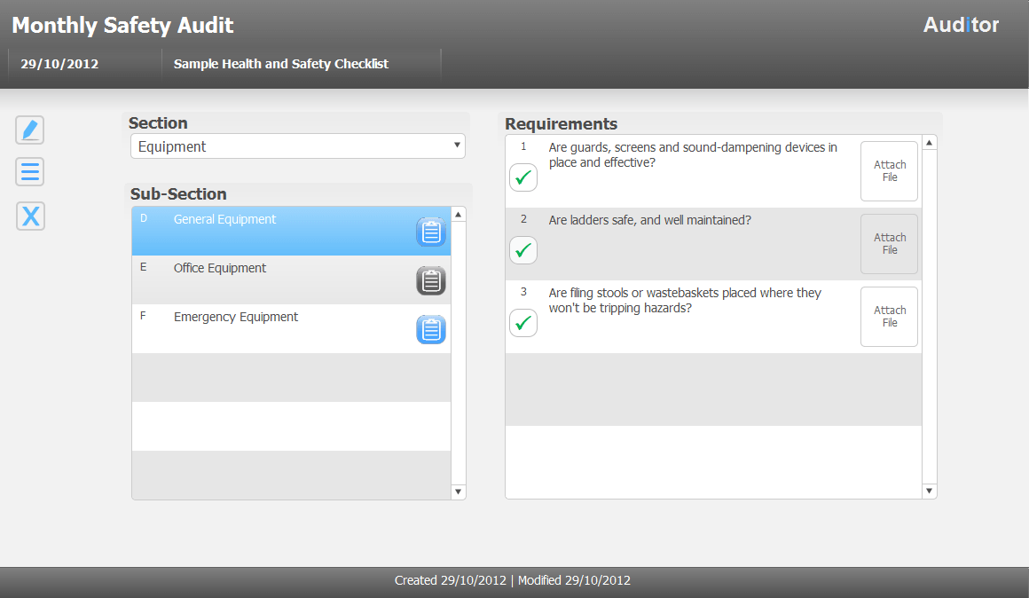 Audit Checklist Tool