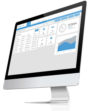 Baseline CRM streamlines operations on desktop computers