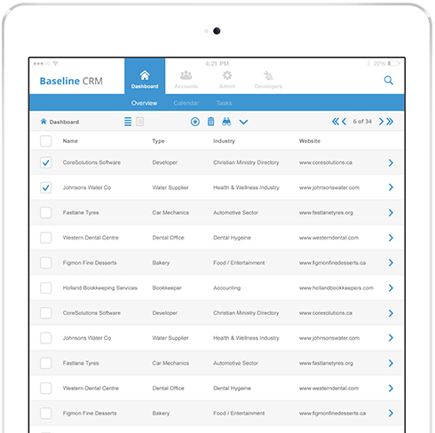 Image of Baseline CRM Mobile App