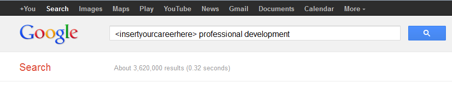 Google Search of <your career here> professional development
