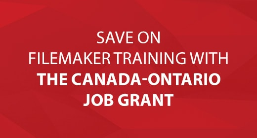 Save on FileMaker Training with The Canada-Ontario Job Grant text image