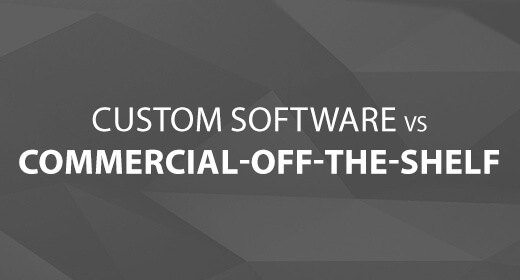 Custom Software vs Off-The-Shelf text image