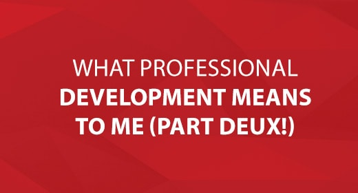 What Professional Development Means To Me