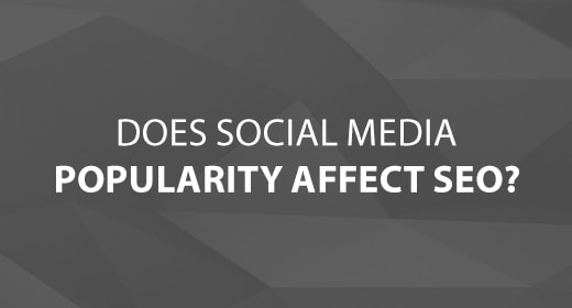 Does Social Media Popularity Affect SEO text image