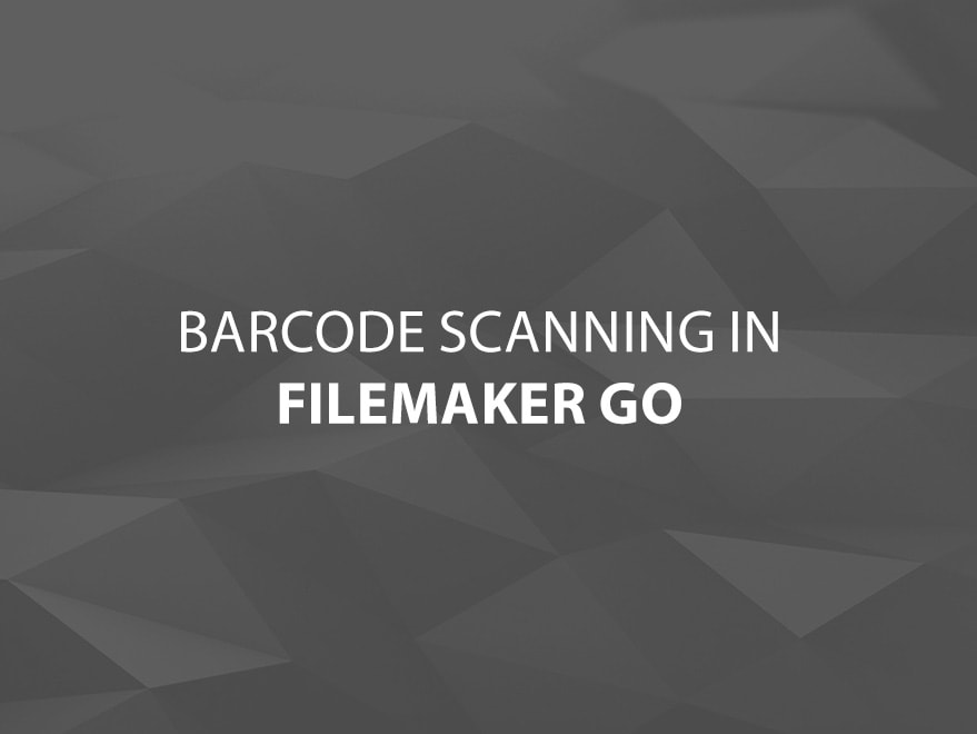 Barcode Scanning with FileMaker Go Image