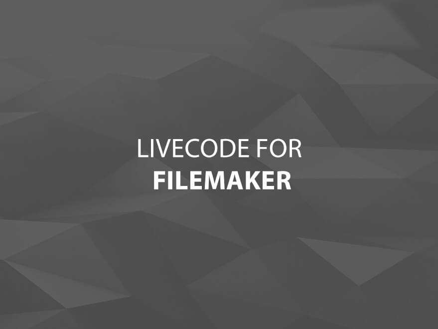 LiveCode for FileMaker