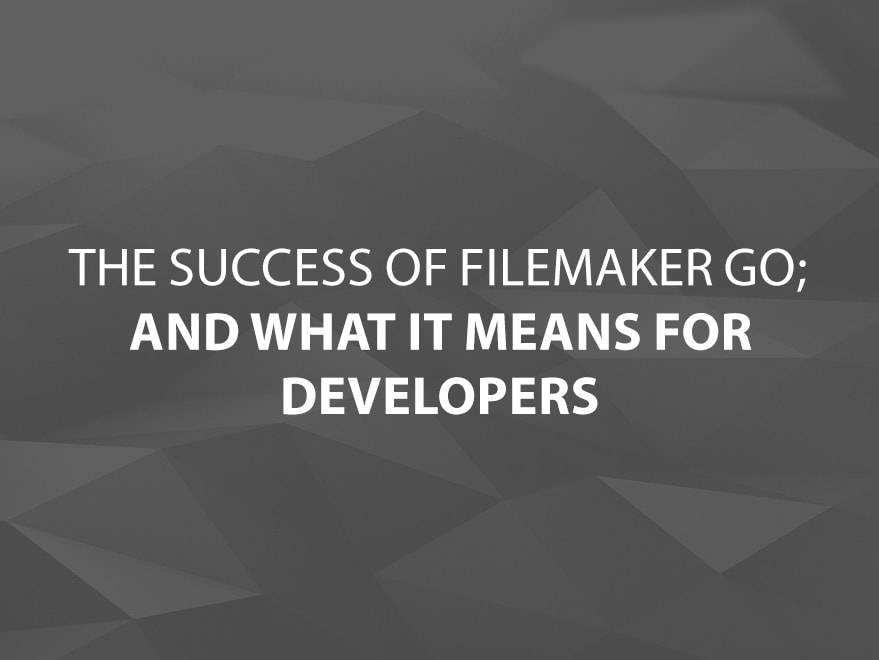 Success of FileMaker Go Blog text image