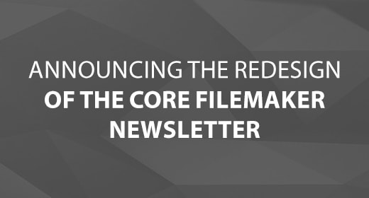Core FileMaker Newsletter Redesign image