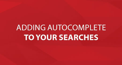 Adding Autocomplete To Your Searches