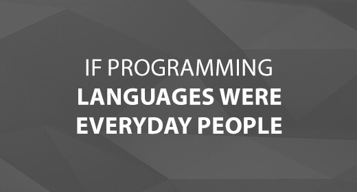 If Programming Languages Were Everyday People text image