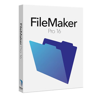 Product box for FileMaker 16