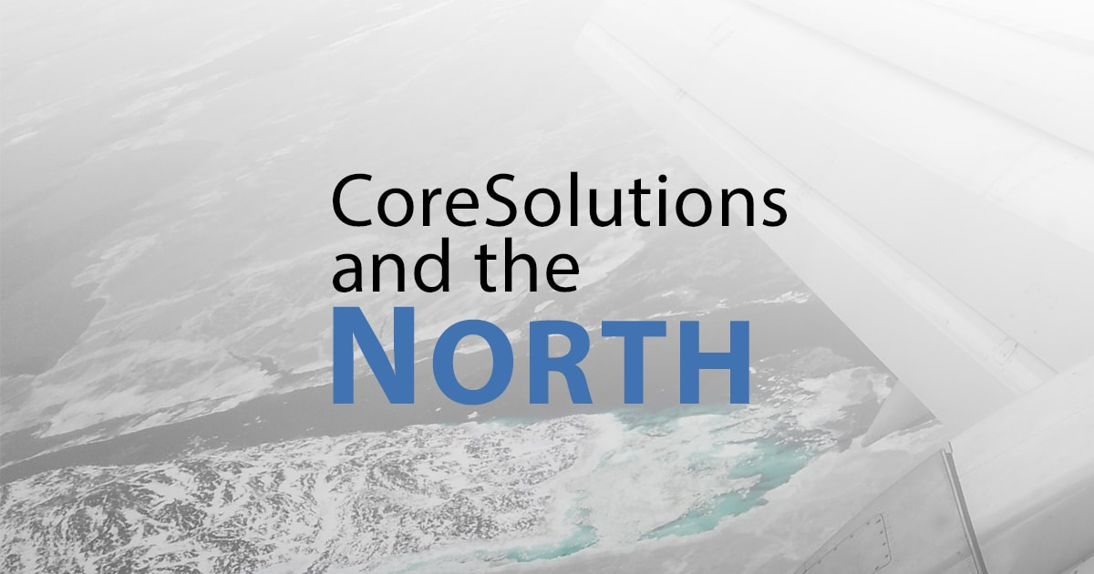 Image of CoreSolutions Software and a picture of Iqaluit Nunavut