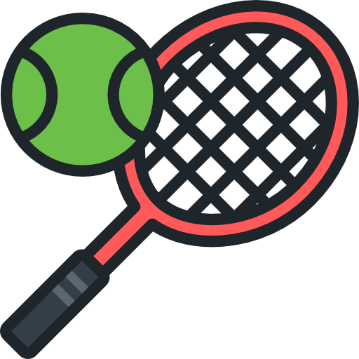 Image of a tennis ball and raquet