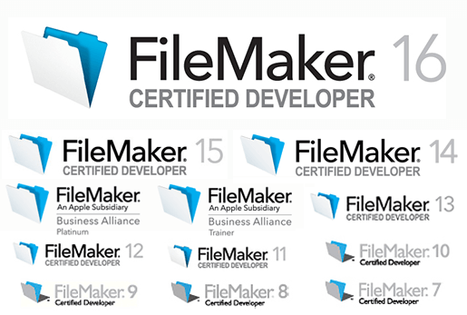 Image of FileMaker logo set